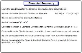 Binomial Tables Binomial Distribution