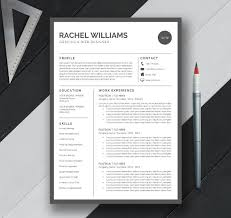 Free One Page Resume Template Resume Templates Latex