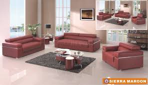 American Living Room Furniture Sierra Maroon Sofa In Bonded Leather By American Eagle Furniture