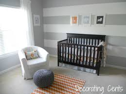 stunning grey black and white baby nursery room decoration using