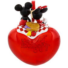 mickey and minnie mouse is magical figural ornament