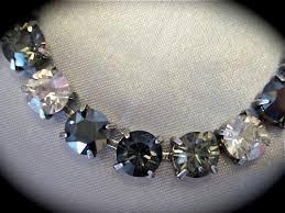 swarovski crystal black necklace images Swarovski black diamond cut bridesmaid tennis bracelet the jpg