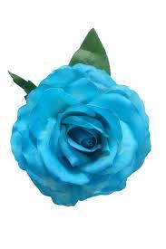 turquoise roses flamenco flower mod marvelous dyed turquoise 16cm