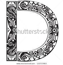 vector illustration of an alphabet letter in graphic style
