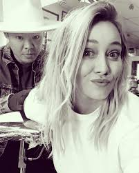 hilary duff shows off new rose tattoo