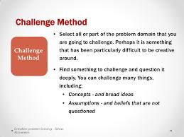 Challenge Method Creative Problem Solving
