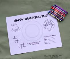thanksgiving card for kids thanksgiving placemats for kids