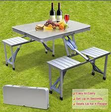 aluminum portable picnic table picnic set picnic her set picnic case set picnic accessories