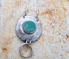stone silver necklace images Hammered silver pendant eilat stone israeli stone by ayalabinor jpg