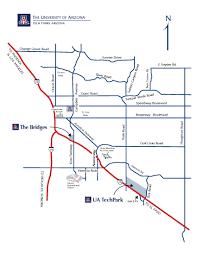 Ua Map Maps Tech Parks Arizona