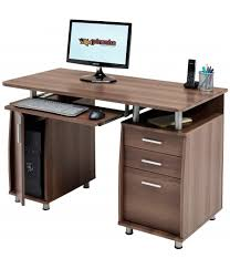 Walnut Computer Desks Emperor Walnut Desk With A4 Storage Piranha Trading