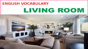 living room vocabulary with picture pronunciation and definition