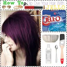 how to dip dye your hair with jello polyvore