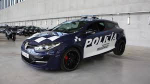 renault dubai madrid police acquires two renault megane rs
