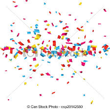 confetti celebration background colorful celebration vector