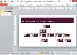 Template Organizational Chart by Picture Organizational Chart Template For Powerpoint