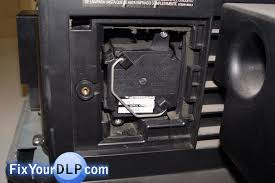 how to replace jvc ts cl110u lamp enclosure for your projection tv