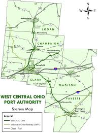 Ohio Map Counties by West Central Ohio Port Authority