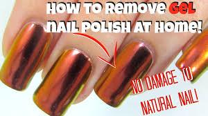 right way to remove gel nail polish at home youtube