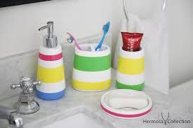 hermosa collection four piece kids bathroom accessories set