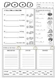 english teaching worksheets clothes fun foods pinterest
