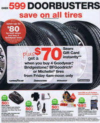 tires black friday sears black friday 2010 ad scan