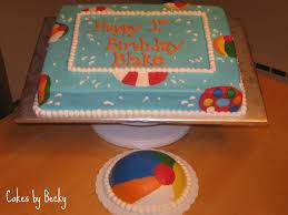 birthday cake beach ball tidal treasures