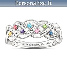 Personalized Necklaces For Her Personalized Jewelry For Moms Personalized Mothers Rings