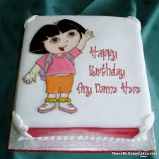 birthday cakes for girls with name and photo hbd wishes