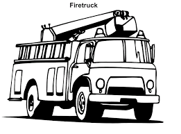 free printable fire truck coloring pages kids