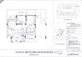 Scaled Floor Plan Floor Plan Propmart Purva Midtown Residences Off Old Madras