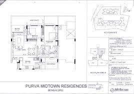 floor plan propmart purva midtown residences off old madras