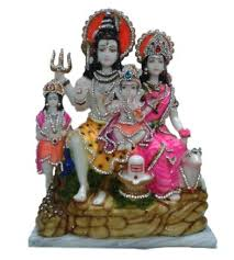Spiritual Home Decor Buy Crystal World Hindu Goddess Shiv Parivar Handicraft Idol