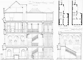 figure 39 no 44 grosvenor square demolished section and plans