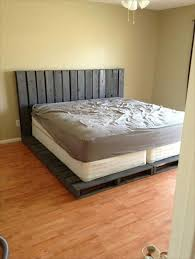Free Platform Bed Frame Designs by Best 25 Pallet Bed Frames Ideas On Pinterest Diy Pallet Bed