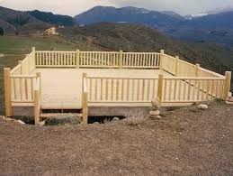 8 foot wood deck railing deck design and ideas