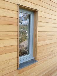 window in larch clad wall gevelbekleding pinterest window