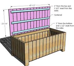 unique storage bench deck box plans for deck bench which allows