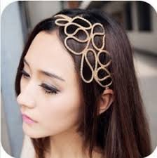headpiece jewelry 12pcs fashion elastic cuff flower headpiece chain forehead
