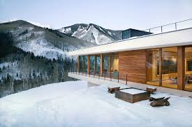 chalet houses linear mountain house of wood glass and chalet charm