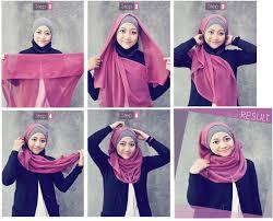 tutorial jilbab dua jilbab cara memakai jilbab paris simpel dan modis kiat cantik