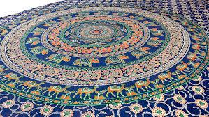 Wall Tapestry Hippie Bedroom Amazon Com Elephant Mandala Tapestry Hippie Tapestries Wall