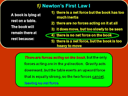 The Book Is On The Table Forces Conceptual Questions 1 Newton U0027s First Law I 1 There Is