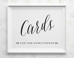 printable wedding card box sign printable wedding cards sign cards for the newlyweds sign