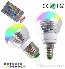 heat generating light bulbs e14 e27 rgb led bulb 3w changeable l led spotlight 24keys ir