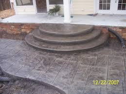 engrossing stamped concrete patio costs decor stamped patio steps