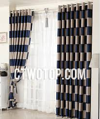 brown and blue curtains scalisi architects