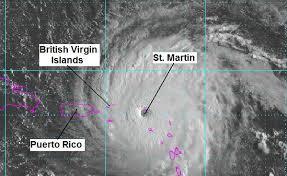 powerful hurricane irma battering caribbean islands peaceful
