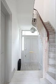 hall and stairs lighting simple white and grey hallway photo location wray crescent n4