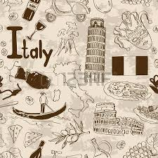 fun sketch italy seamless pattern royalty free cliparts vectors